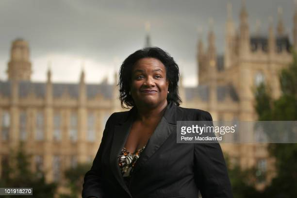 Labour leadership candidate Dianne Abbott smiles after giving a television interview near Parliament on June 9 2010 in London England A ballot will...