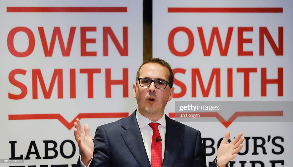 Labour Leadership Candidate Owen Smith Delivers Major Speech On Economy