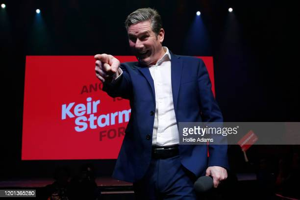 Labour leadership candidate Sir Keir Starmer speaks at a leadership campaign rally at the Roundhouse on February 16 2020 in London England Sir Keir...