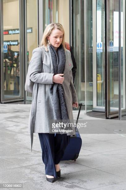 Labour leadership contender and Shadow Business Secretary Rebecca LongBailey leaves BBC Broadcasting house after attending the Andrew Marr Sunday...