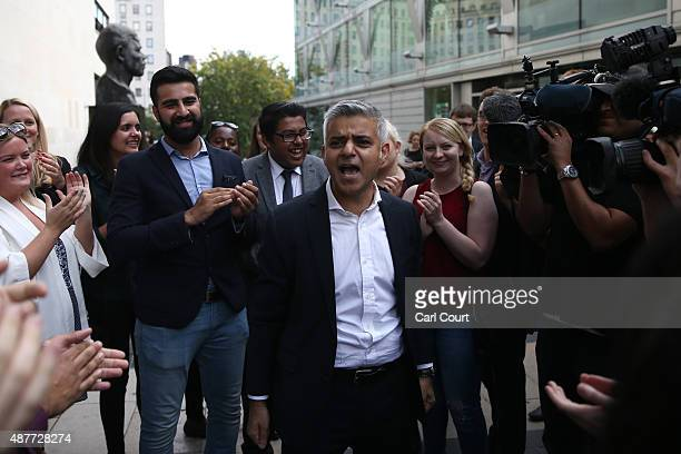 Labour Member of Parliament for Tooting Sadiq Khan addresses supporters after winning the contest to become Labour's candidate to become London mayor...
