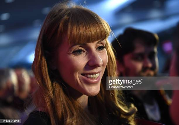 Labour MP Angela Rayner after taking part in the party deputy leadership hustings at Ashton Gate Stadium on February 01 2020 in Bristol England Five...