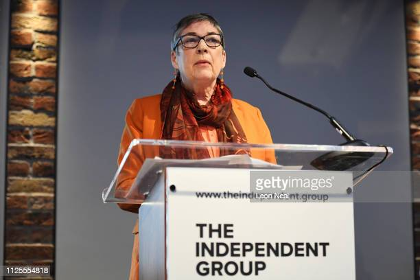 Labour MP Anne Coffey announces her resignation from the Labour Party at a press conference on February 18 2019 in London England Chuka Umunna MP...