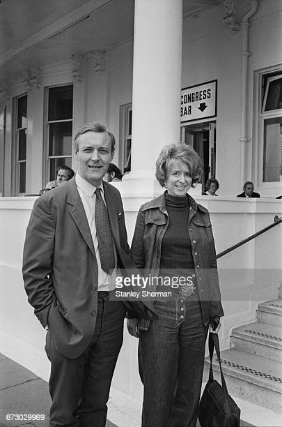 Labour MP Anthony Wedgwood Benn and his wife Caroline Benn at the Labour Party Conference in Brighton UK 3rd October 1971