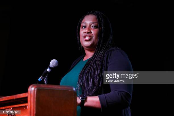 Labour MP Bell Ribeiro-Addy speaks during a Labour Leadership Campaign Event at Oslo Hackney on January 21, 2020 in London, England. Four candidates...