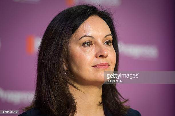 Labour MP Caroline Flint addresses delegates at the Progress annual conference in central London on May 16 2015 AFP PHOTO / LEON NEAL