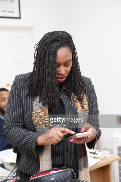 Labour MP Dawn Butler minister for Women and Equalities in her constituency office with her staff on March 09 2018 in London England