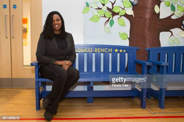 Labour MP Dawn Butler minister for Women and Equalities visiting Mitchell Brook Primary School for a panel discussion on under achievement in...