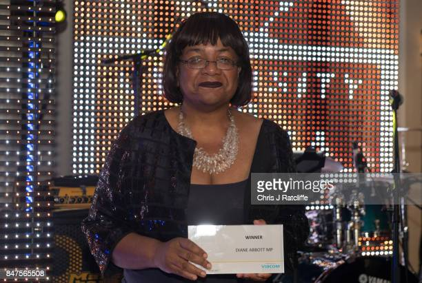 Labour MP Dianne Abbott poses for photos after winning the icon of the year award at the Diversity in Media Awards on September 15 2017 in London...