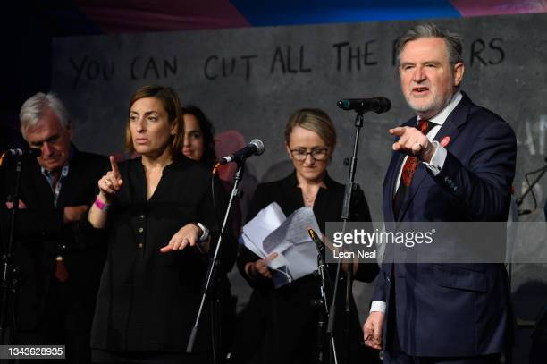 Labour MP for Brent North Barry Gardiner addresses an audience at a fringe event for political festival The World Transformed, on the fourth day of...