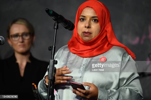 Labour MP for Poplar and Limehouse Apsana Begum addresses an audience at a fringe event for political festival The World Transformed, on the fourth...