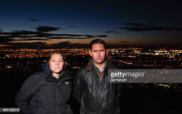 Labour MP for Redcar Anna Turley and Labour MP for Middlesbrough and East Cleveland Tom Blenkinsop attend a torchlit procession on the top of the...