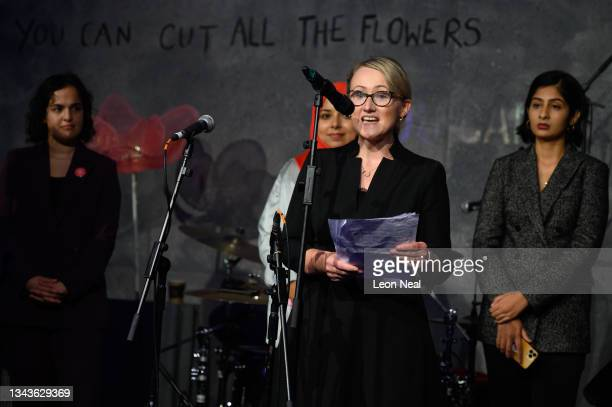 Labour MP for Salford and Eccles Rebecca Long-Bailey addresses an audience at a fringe event for political festival The World Transformed, on the...