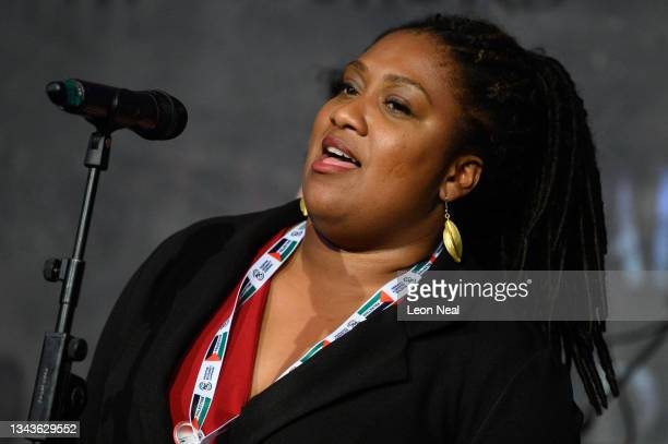 Labour MP for Streatham Bell Ribeiro-Addy addresses an audience at a fringe event for political festival The World Transformed, on the fourth day of...