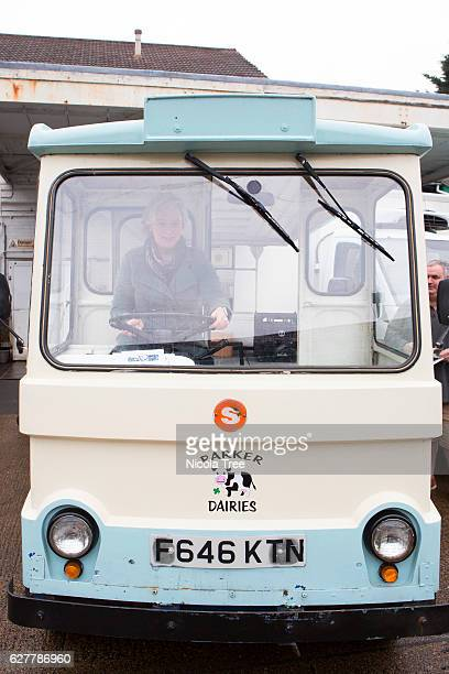 Labour MP for Walthamstow Stella Creasy celebrates 'Small Business Saturday' by visiting a local company Parker Dairies and driving their Milk float...