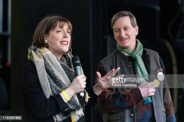 Labour MP Jess Phillips and Conservative MP Dominic Grieve address a rally in Parliament Square after over 1 million people took part in the...