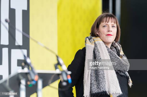 Labour MP Jess Phillips attends a rally in Parliament Square after over 1 million people took part in the antiBrexit 'Put it to the People' march...