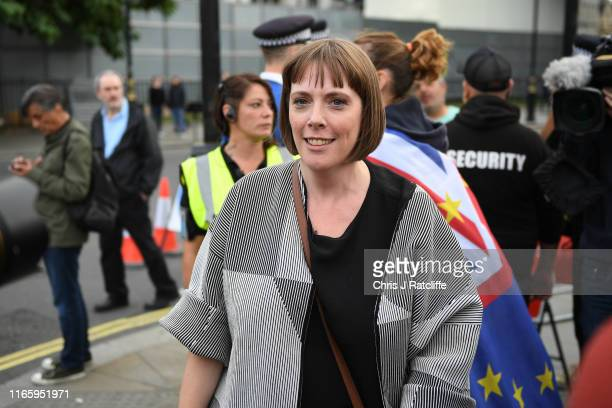 Labour MP Jess Phillips for Birmingham Yardley stands on the street as Proremain supporters gather in Westminster on September 4 2019 in London...