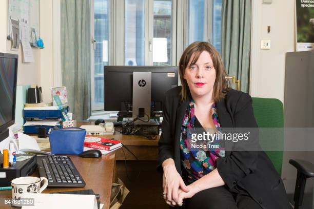 Labour MP Jess Phillips poses in her office at the Houses of Parliament on February 1 2017 in London England