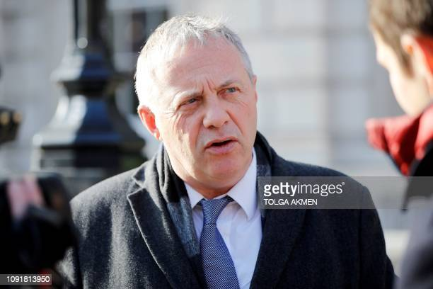 Labour MP John Mann reacts as he leaves the Cabinet Office on Whitehall in central London on January 31 2019 Britain may need to delay Brexit to pass...