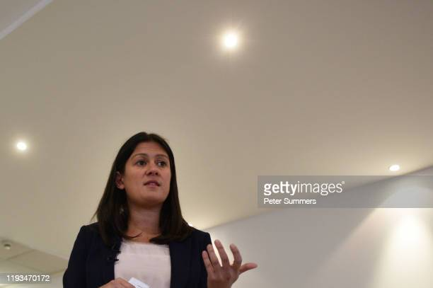 Labour MP Lisa Nandy delivers a speech at LondoneastUK on January 13 2020 in Dagenham England The five candidates contending the Labour Leadership...