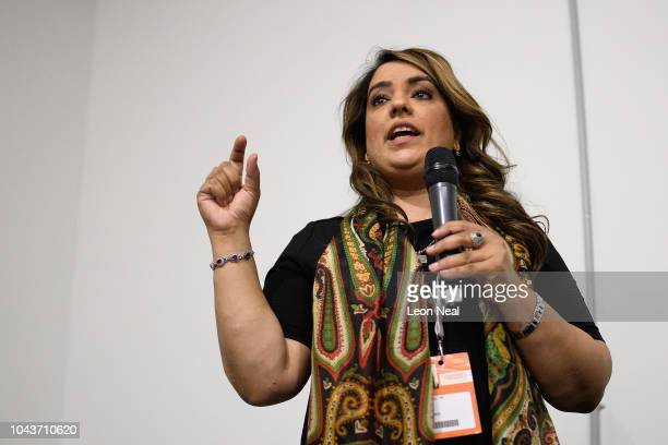Labour MP Naseem Shah addresses delegates at a fringe event in the Exhibition Centre Liverpool during day two of the annual Labour Party conference...