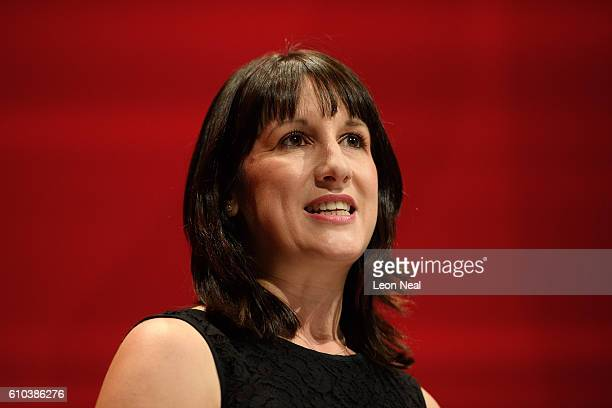 Labour MP Rachel Reeves leads a tribute to the murdered Labour MP Jo Cox on the first day of the Labour Party Conference in the Exhibition Centre...