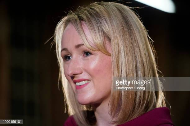 Labour MP Rebecca LongBailey talks to the media before launching her bid for the leadership of the Labour Party at Manchester Museum of Science and...