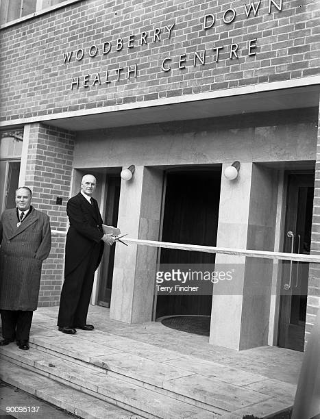 Labour MP Somerville Hastings opens the new LCC Woodberry Down Health Centre in London 14th October 1952 It is the first fully comprehensive health...