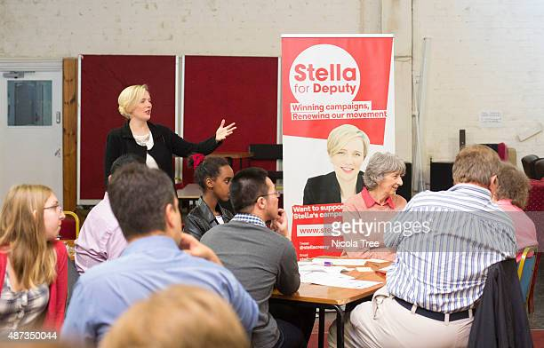 Labour MP Stella Creasy and Labour Deputy Leader hopeful talks at a Fight Back Club Training For Campaigns event at the St Pancras Community...