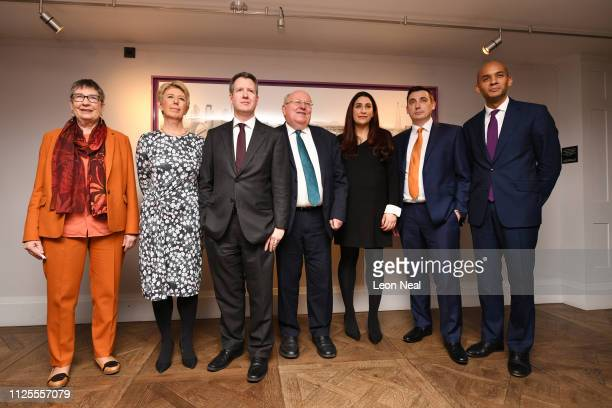 Labour MP's Anne Coffey Angela Smith Chris Leslie Mike Gapes Luciana Berger Gavin Shuker and Chuka Umunna announce their resignation from the Labour...