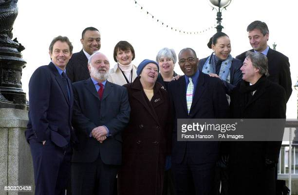 Labour MPs during a photocall in London to show their support for Frank Dobson in his bid to become Mayor of London * Back row Paul Boateng Harriet...