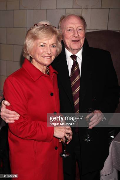 Labour MPs Neil Kinnock and Glenys Kinnock arrive at a VIP screening of The Ghost held at The Courthouse Hotel on March 30 2010 in London England