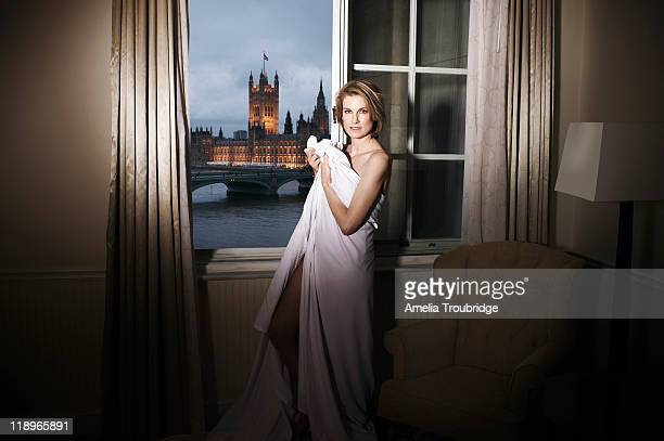 Labour party activist Sally Bercow is photographed for ES magazine on January 26 2011 in London England