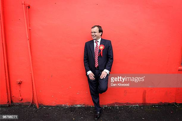 Labour party candidate for Harrow West Gareth Thomas poses for a photograph at his Campaign headquarters on May 2 2010 in London England The General...