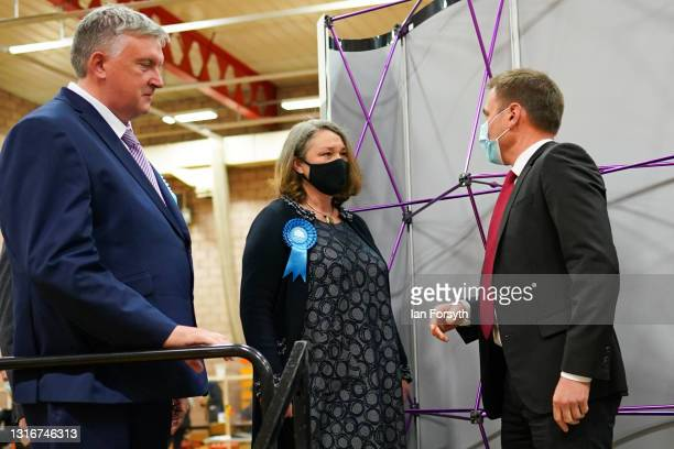 Labour Party candidate for Hartlepool Dr Paul Williams congratulates Jill Mortimer after he loses the Hartlepool Parliamentary By-election Count on...