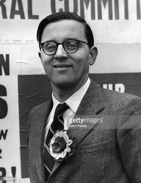 Labour Party candidate Merlyn Rees standing in the East Harrow byelection He became the Labour Secretary of State for Northern Ireland in 1974