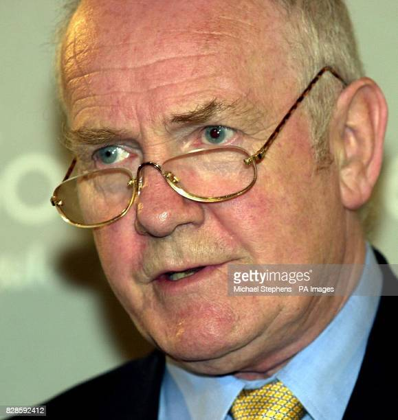 Labour Party Chairman Dr John Reid speaks at a Goverment news conference at the Foreign Press Association in London insisting that the government...