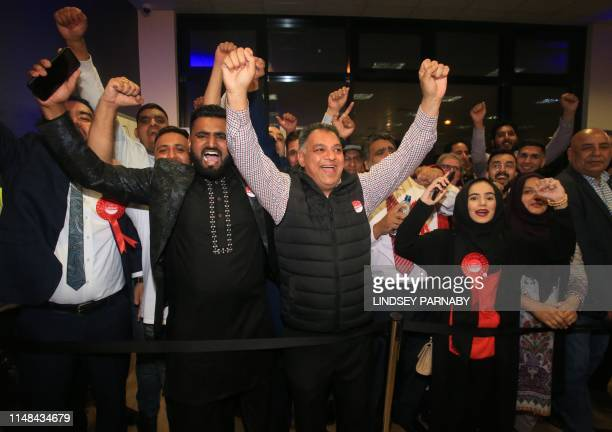Labour Party faithful cheer as Lisa Forbes accepts her win for the local seat after all votes are in and counted at the Kingsgate Conference Centre...