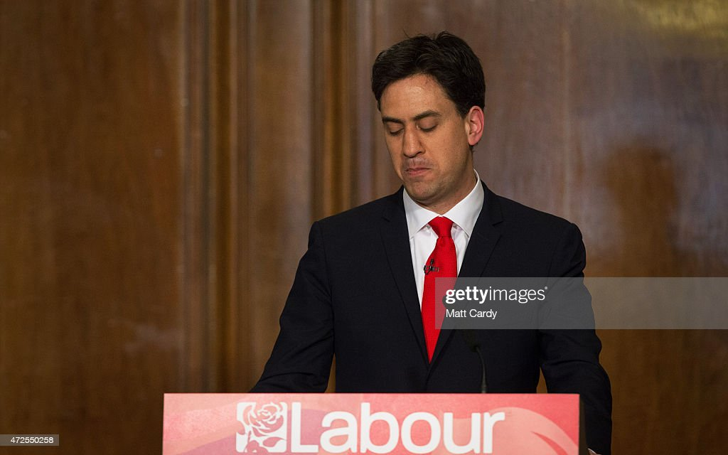 Ed Miliband Resigns As The Labour Party Leader : News Photo