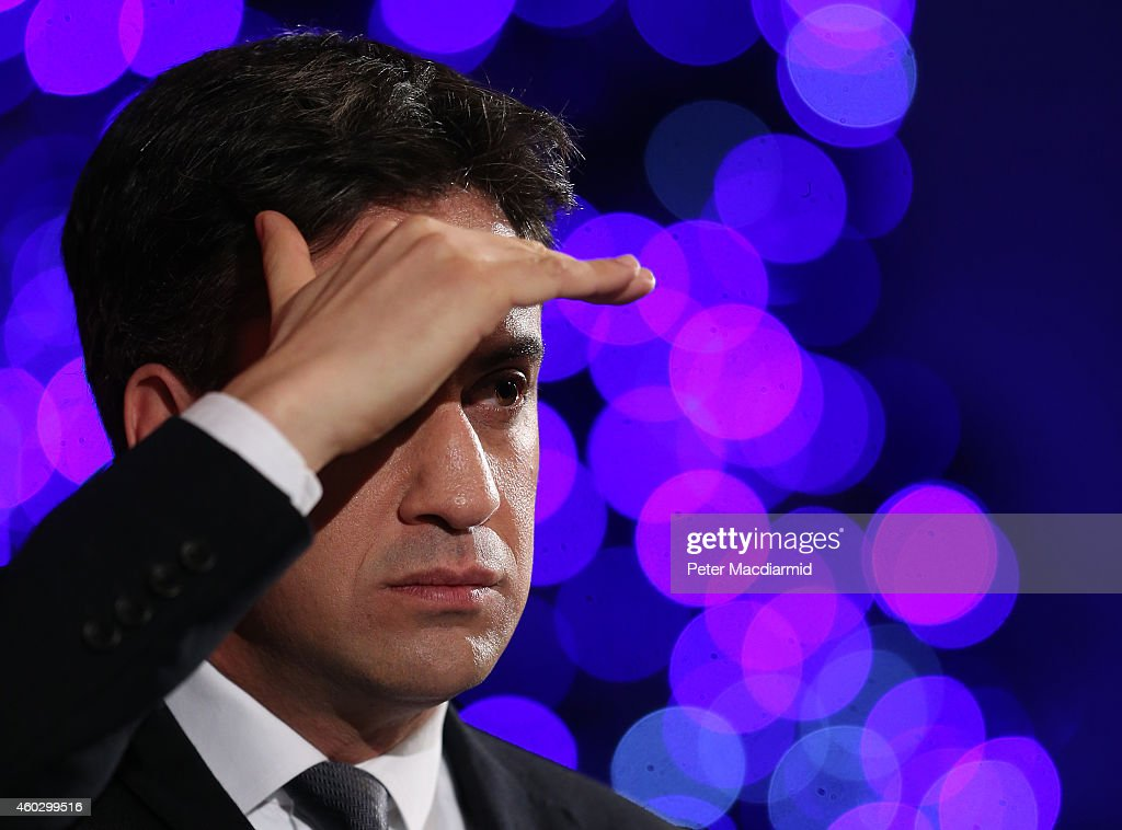 Labour Leader Ed Miliband Gives A Speech On The Economy : News Photo