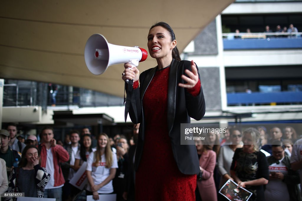 Jacinda Ardern Campaigns As Labour Takes Lead In Polls