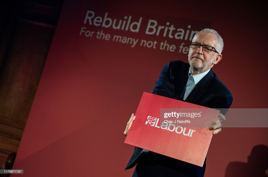 Labour Leader Corbyn Speaks At A Rally Following The Queen's Speech : News Photo