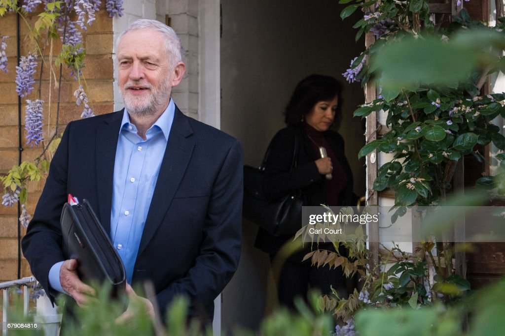 Labour Leader Jeremy Corbyn Leaves Home As Council Election Results Come In