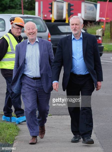 Labour Party leader Jeremy Corbyn and Middlesbrough MP Andy McDonald visits the British Steel manufacturing site to tour the facility and meet staff...
