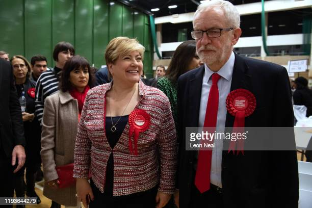 Labour Party leader Jeremy Corbyn and Shadow Foreign Secretary Emily Thornberry meet after both retaining their Parliamentary seats following the...