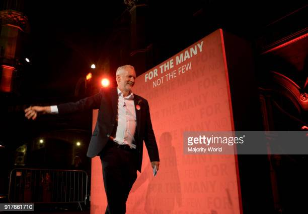 Labour Party leader Jeremy Corbyn at a rally on the last night of the general elections of June 8th London UK 6th June 2017