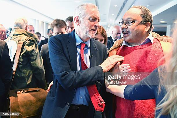 Labour Party Leader Jeremy Corbyn attends antisemitism inquiry findings at Savoy Place on June 30 2016 in London EnglandThe Labour leader said there...
