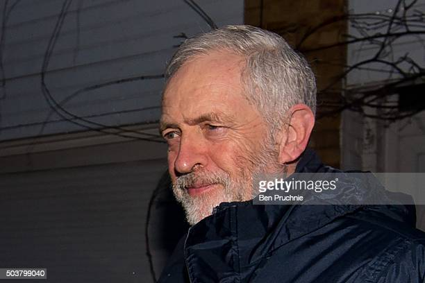 Labour Party Leader Jeremy Corbyn departs his North London home on January 7 2016 in London England The Labour leader yesterday faced a series of...