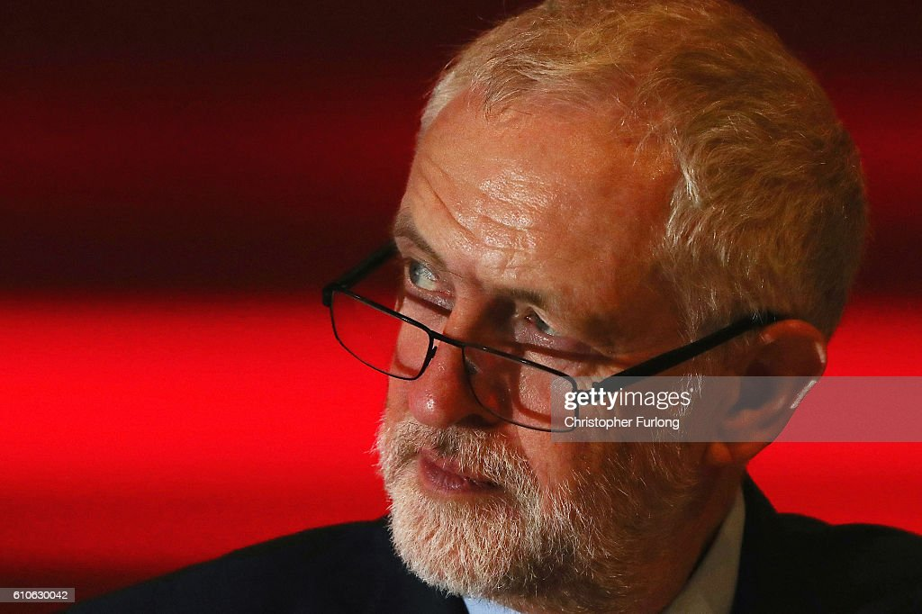 Labour party leader Jeremy Corbyn listens to a speaker on the third day of the labour party conference on September 27, 2016 in Liverpool, England. On day three of the annual conference at the ACC shadow education secretary Angela Rayner is to set out the party's policy on childcare and that 'every parent should have the right to quality, affordable childcare'. Deputy leader Tom Watson will also deliver his keynote speech to delegates.